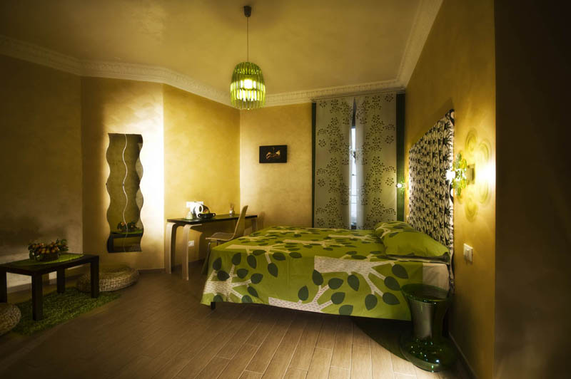 The room has private bathroom and is equipped with air conditioning and wireless internet connection.